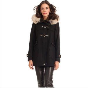 Trina Turk Elizabeth Toggle Duffle Coat Coyote Fur